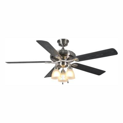 Trentino II 60 in. LED Indoor/Outdoor Brushed Nickel Ceiling Fan with Light Kit