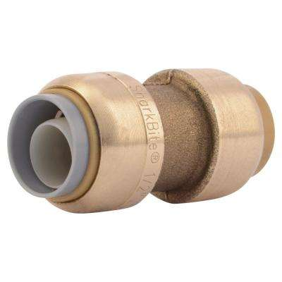 1/2 in. Push-to-Connect Brass Polybutylene Conversion Coupling Fitting
