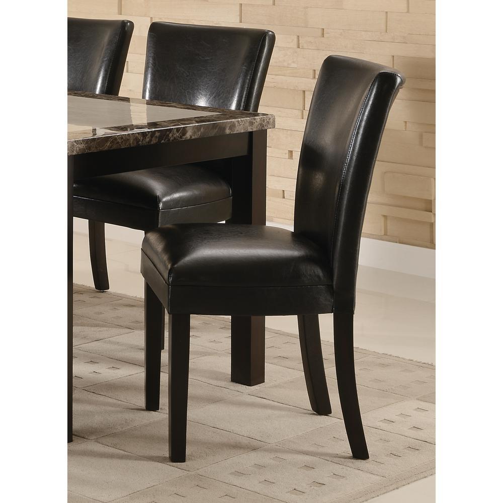 Carter Collection Black/ Cappuccino Parson Chair (Set of 2)