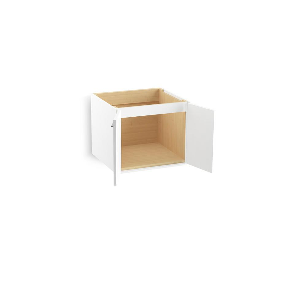 Jute 24 in. Vanity Cabinet in Linen White with Chrome Hardware