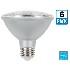 75w equivalent cool bright par30 dimmable led flood light bulb 6pack
