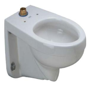 Zurn 1.1-1.6 GPF Elongated Wall Hung Toilet Bowl Only in White by Zurn