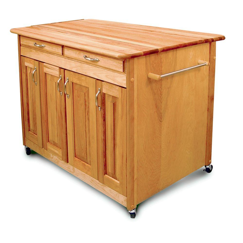 Catskill Craftsmen Super Island Plus 44 in. Kitchen Island-DISCONTINUED