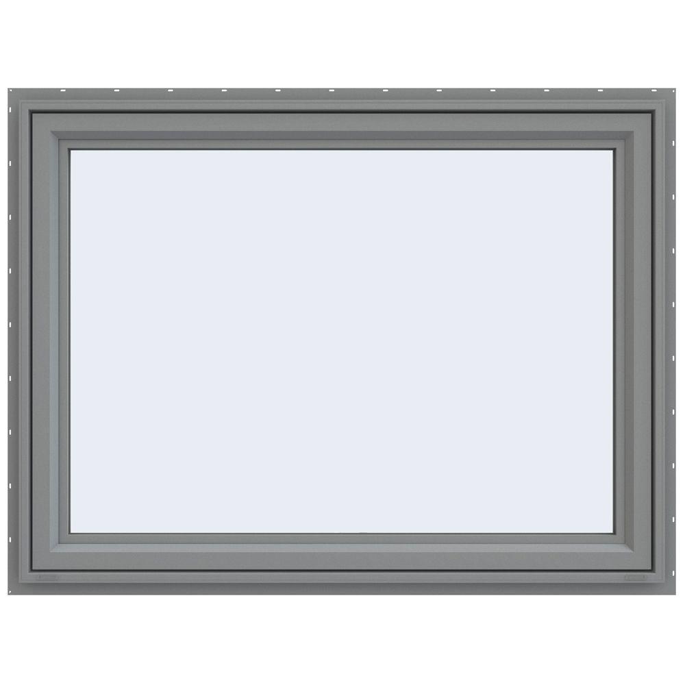 47.5 in. x 35.5 in. V-4500 Series Awning Vinyl Window -