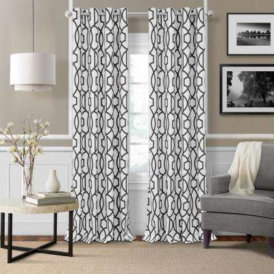 Polyester - Black and White - Curtains & Drapes - Window ...