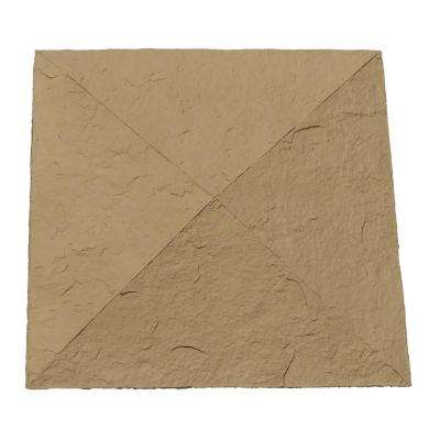 Sandstone 18 in. x 18 in. Brown Faux Polyurethane Stone Column Wrap Cap