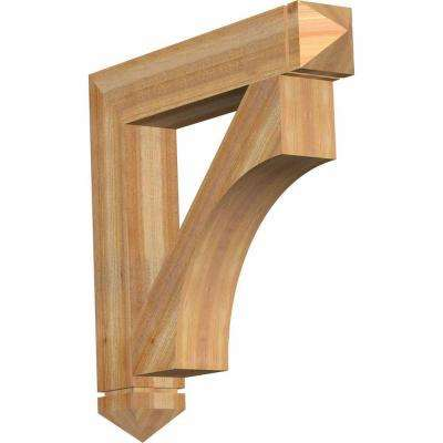 6 in. x 36 in. x 36 in. Western Red Cedar Westlake Arts and Crafts Rough Sawn Bracket