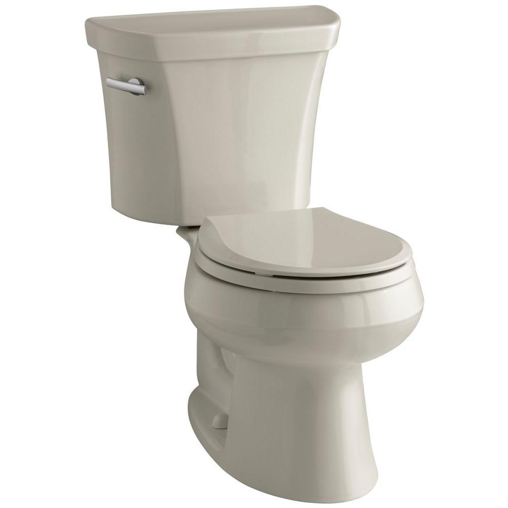 kohler wellworth 2 piece 1 6 gpf single flush round toilet in sandbar k 3977 g9 the home depot. Black Bedroom Furniture Sets. Home Design Ideas
