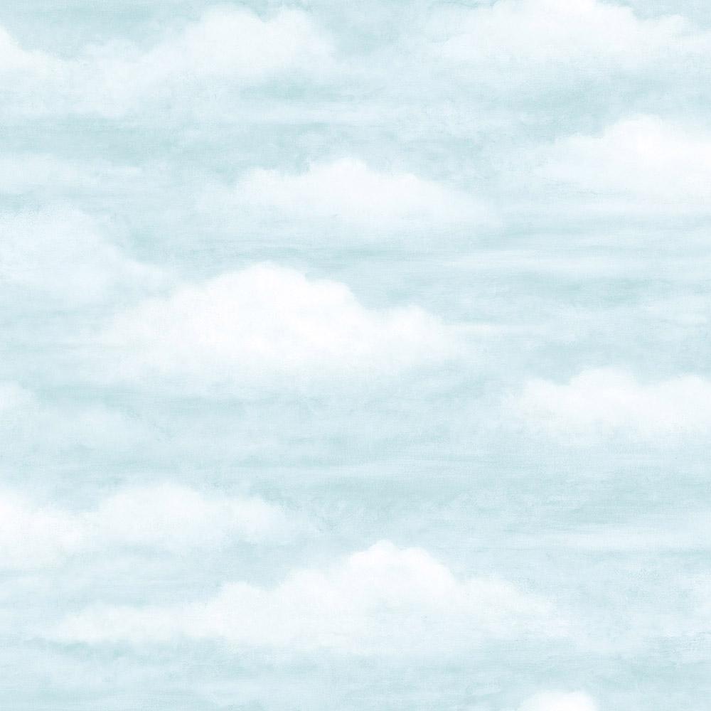 Chesapeake Daydreamer Light Blue Clouds Faux Effects Wallpaper