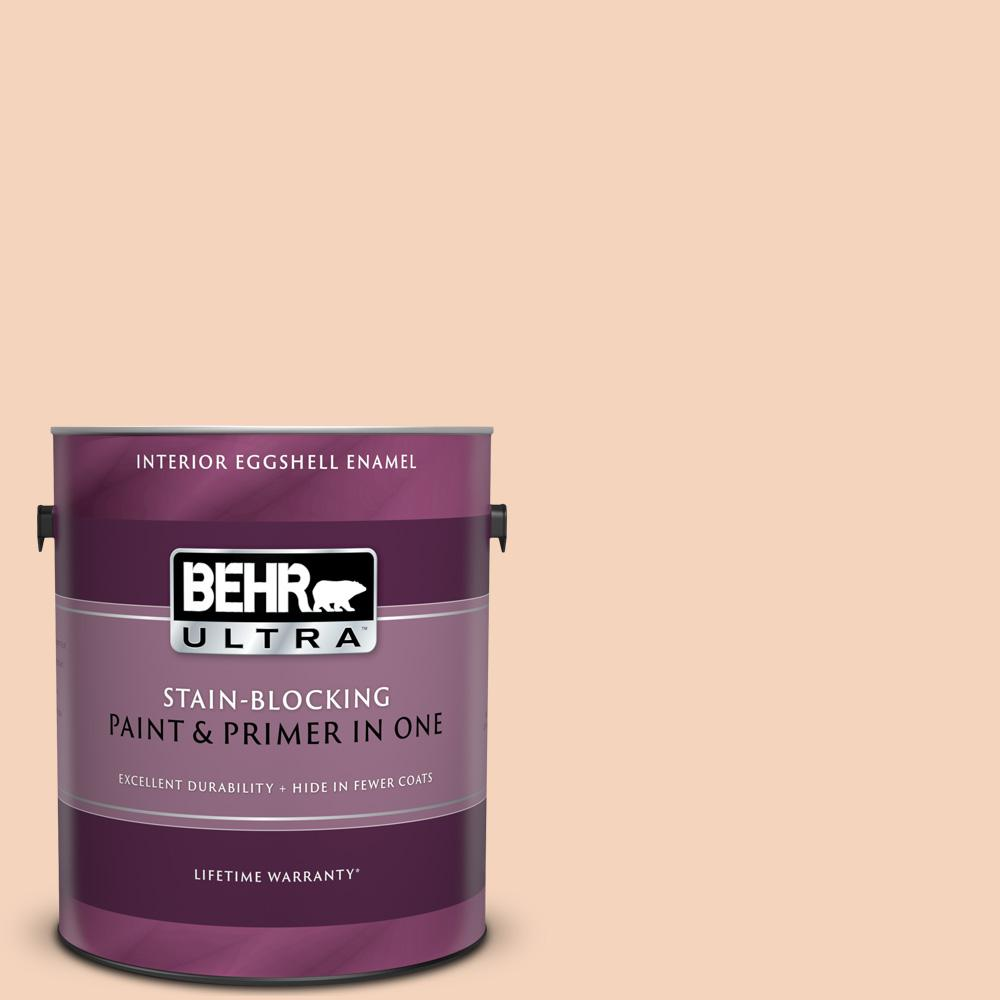 Behr Ultra 1 Gal Bxc 37 Miami Stucco Eggshell Enamel Interior Paint And Primer In One 275001 The Home Depot