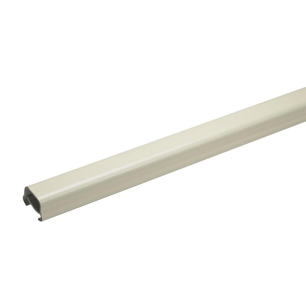 500 Series 5 ft. Metal Surface Raceway Channel, Ivory-B-1 - The Home ...