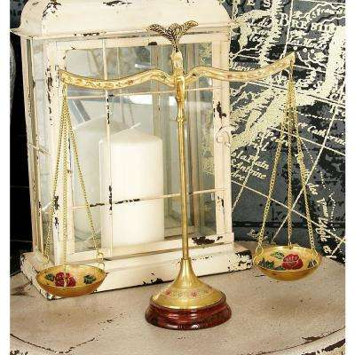 12 in. Polished Brass Equilibrium Scale Decor