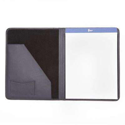 Genuine Leather Luxury Suede Lined Writing Portfolio, Blue