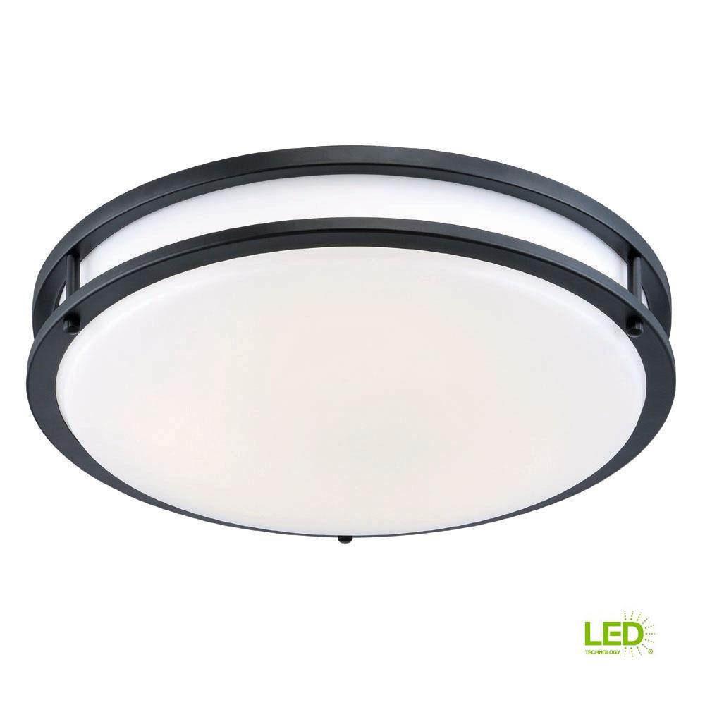 Oil rubbed bronze white low profile led ceiling light