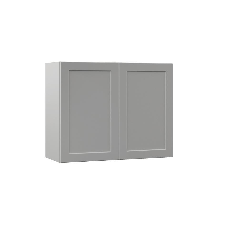 Frameless Kitchen Cabinets Home Depot: Hampton Bay Designer Series Melvern Assembled 30x24x12 In
