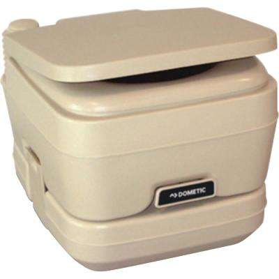 2.5 Gal. Adult Size SaniPottie 962 Portable Toilet with Bellows Flush in Tan