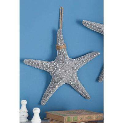 14 in. x 14 in. Coastal Living Gray Polystone Rope Starfish