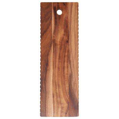 18 in. Natural Acacia Wood Cheese Board