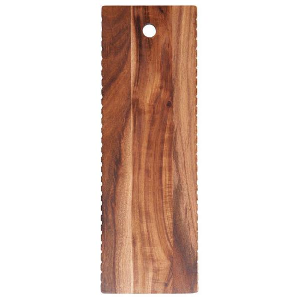 Barcraft 18 in. Natural Acacia Wood Cheese Board 5212694