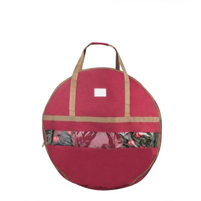 Ultimate 48 in. Christmas Wreath Storage Bag Red