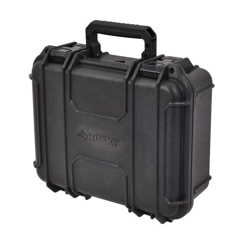 Husky 13.5 in. Plastic Tool Box in Black