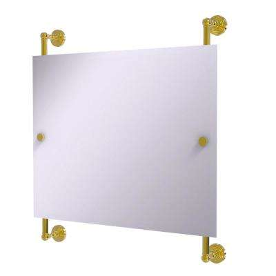 Waverly Place Landscape 26 In. X 29 In. Rectangular Frameless Rail Mounted  Mirror In
