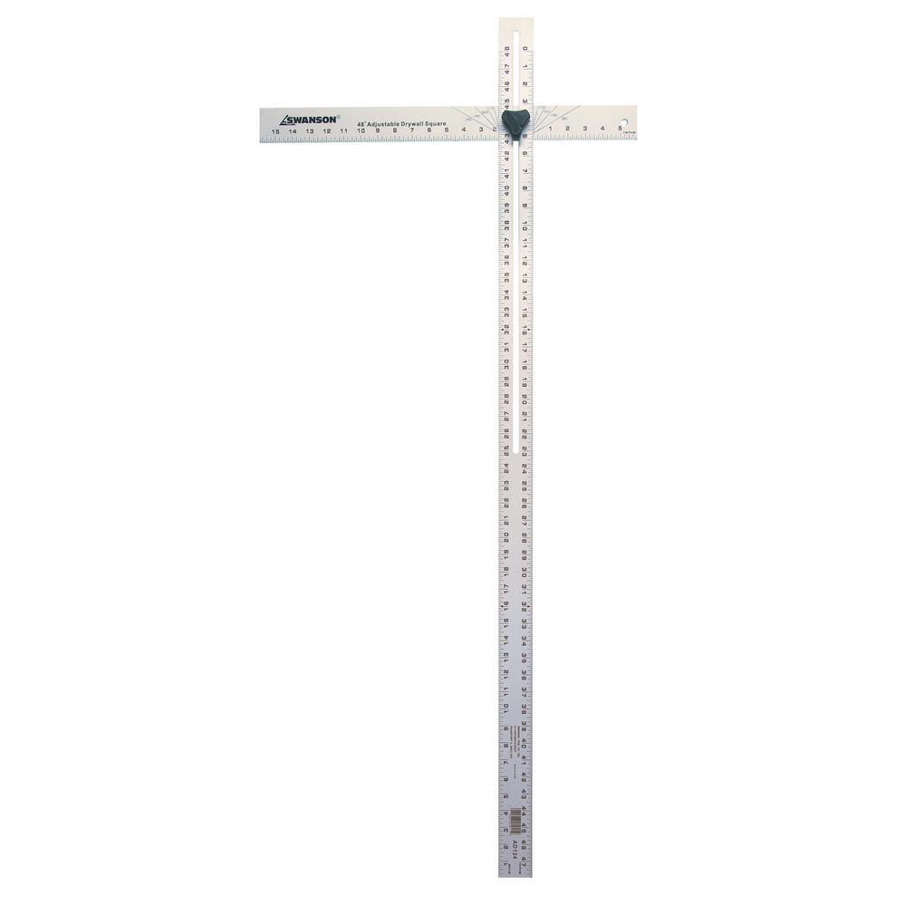Swanson 48 In Adjustable Aluminum Drywall Square Ad124 The Home Depot