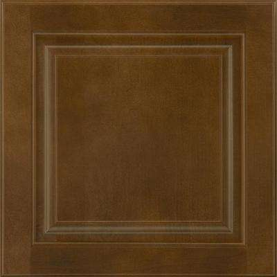 14-9/16x14-1/2 in. Cabinet Door Sample in Portola Maple Truffle