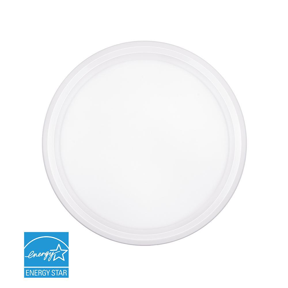 11.5-Watt White Integrated LED Ceiling Flush Mount