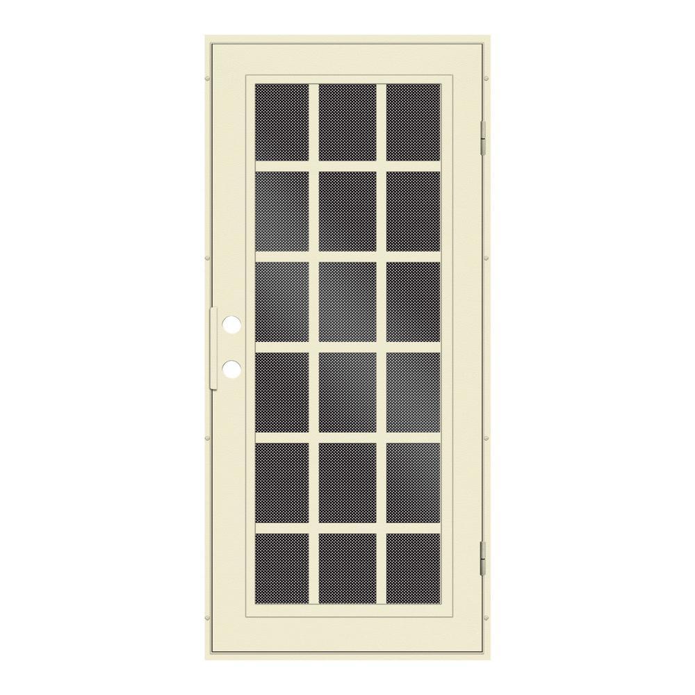 black metal screen doors. Unique Home Designs 32 In. X 80 Classic French Beige Hammer Right- Black Metal Screen Doors