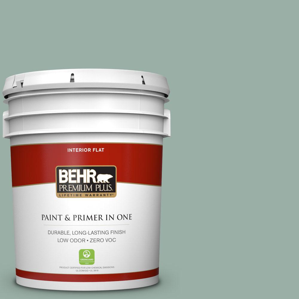 BEHR Premium Plus Home Decorators Collection 5-gal. #HDC-CT-22 Aged Jade Zero VOC Flat Interior Paint