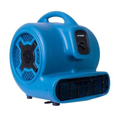 1 HP 3600 CFM 3-Speed Air Mover Carpet Dryer Floor Fan Blower