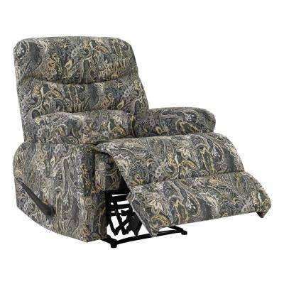 Gray Paisley Velvet Wall Hugger Reclining Chair