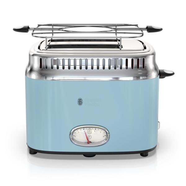 Russell Hobbs Retro Style 2-Slice Heavenly Blue and Stainless Steel Toaster