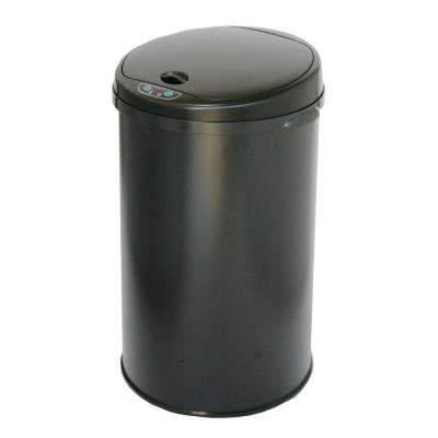 8 Gal. Matte Black Touchless Round Motion Sensing Trash Can with Deodorizing Carbon Filter Technology