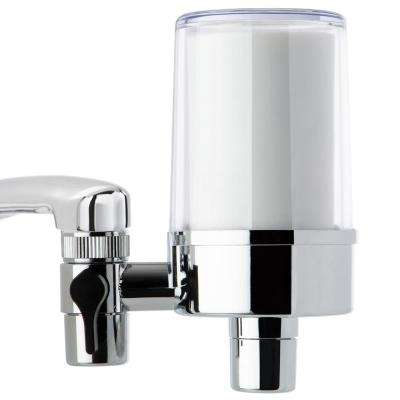 DF2 Series 500 Gal. Faucet Mount Water Filtration System, BPA Free, Clear Housing
