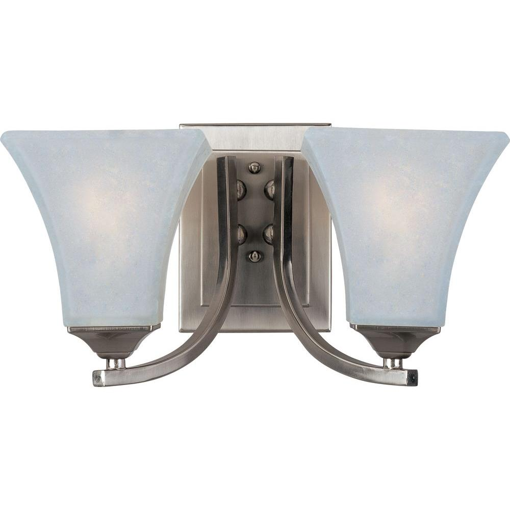 Aurora 2-Light Satin Nickel Bath Vanity Light
