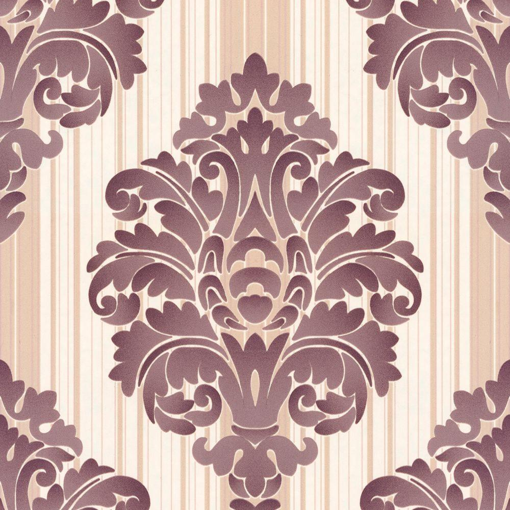 The Wallpaper Company 56 sq. ft. Jade Damask Wallpaper
