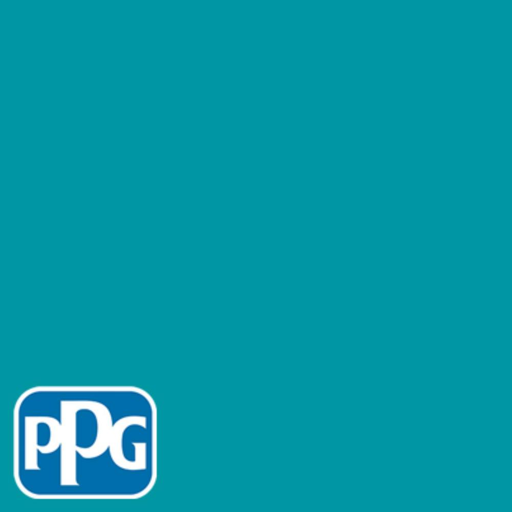 PPG TIMELESS 1 gal. #HDPPGB27U Milano Teal Semi-Gloss Interior One-Coat Paint with Primer