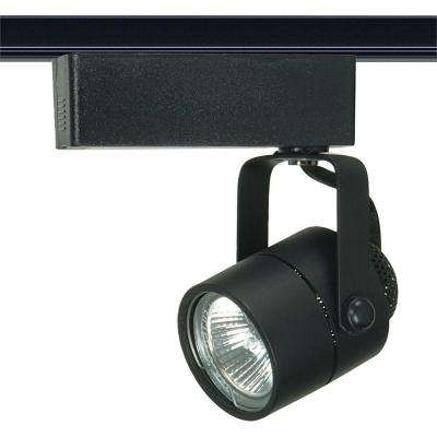 1-Light MR16 12-Volt Black Track Lighting Head Round