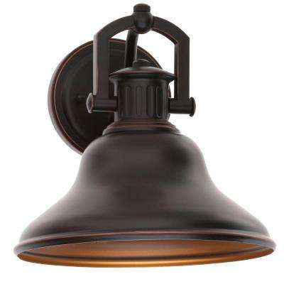 Lake Worth 1-Light Oil Rubbed Bronze Outdoor Wall Lantern