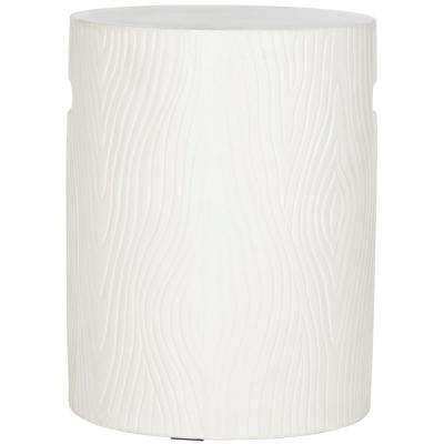 Trunk Ivory Stone Indoor/Outdoor Accent Table