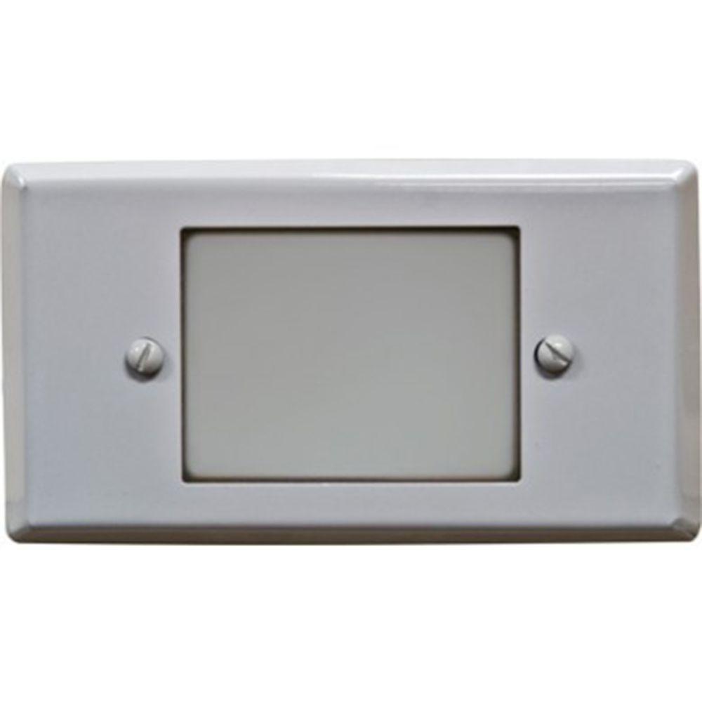 Ashler 1-Light White Outdoor LED Recessed Step Light
