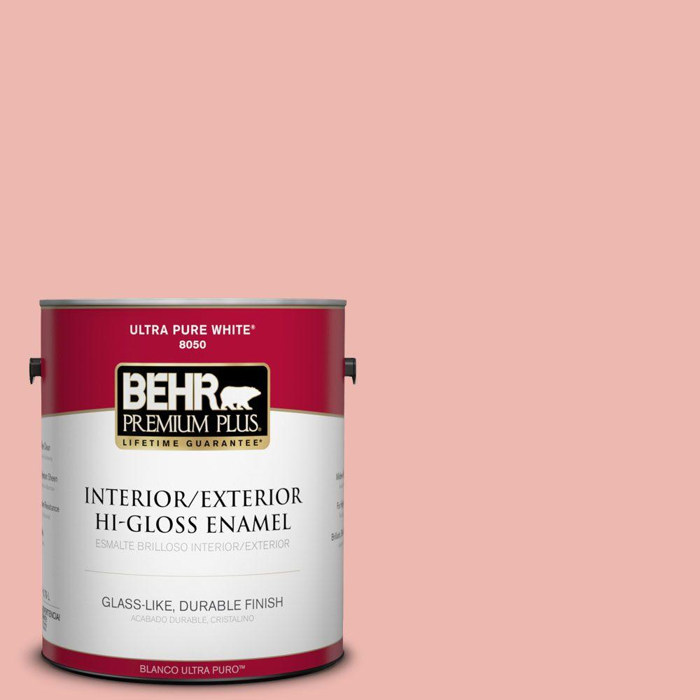 1-gal. #M170-3 Carnation Coral Hi-Gloss Enamel Interior/Exterior Paint