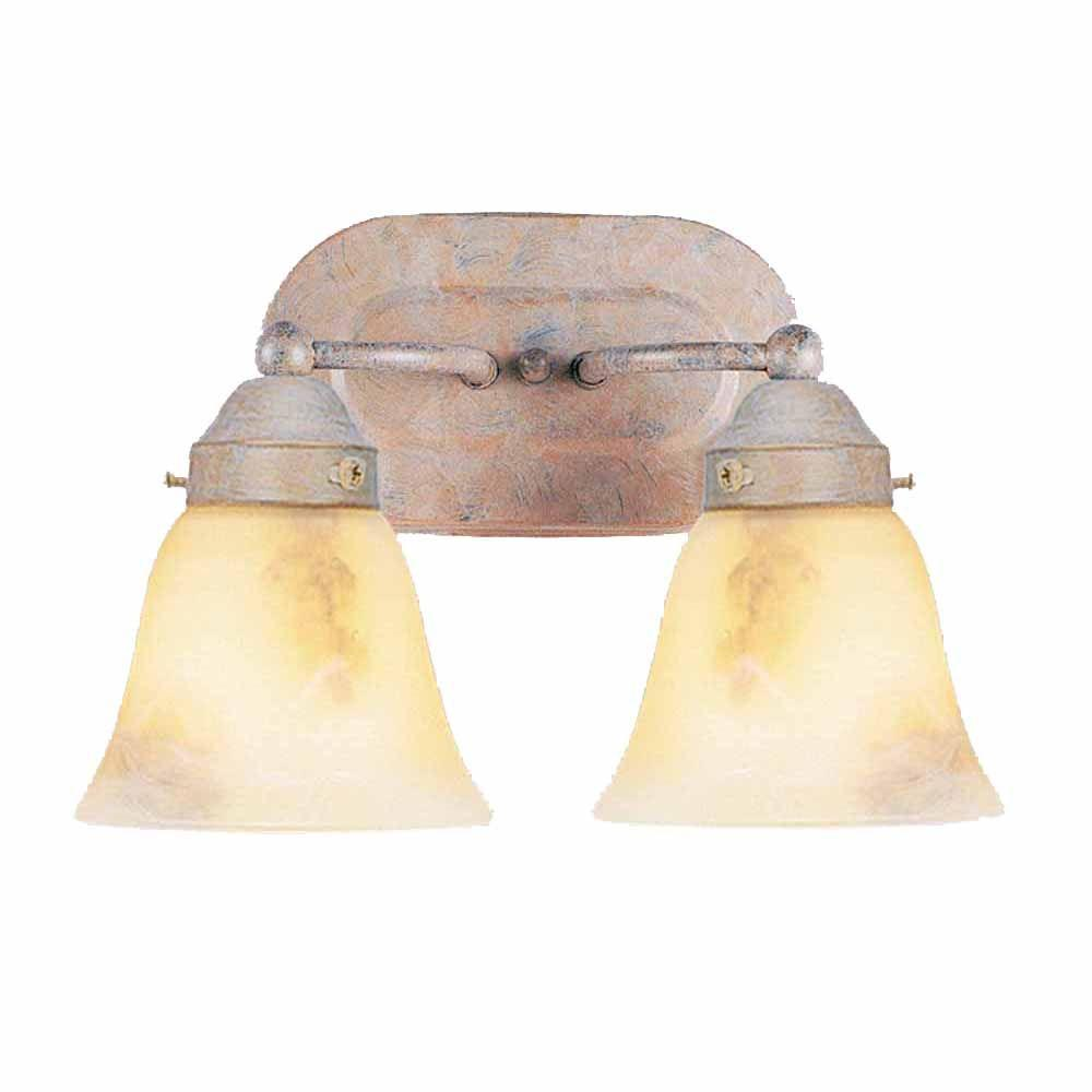 Lenor 2-Light Prairie Rock Incandescent Wall Bath Vanity Light