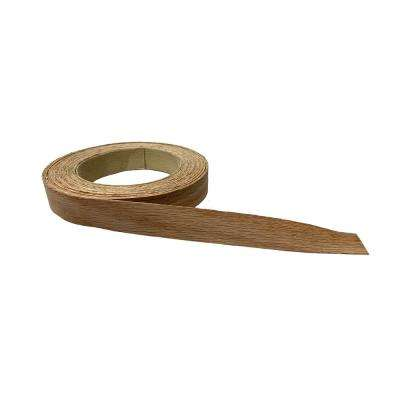 13/16 in. x 25 ft. Prefinished Red Oak Real Wood Veneer Edgebanding with Hot Melt Adhesive