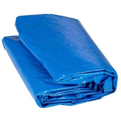14 ft. Blue Trampoline Protection Cover Weather and Rain Cover Fits for 14 ft. Round Trampoline Frames