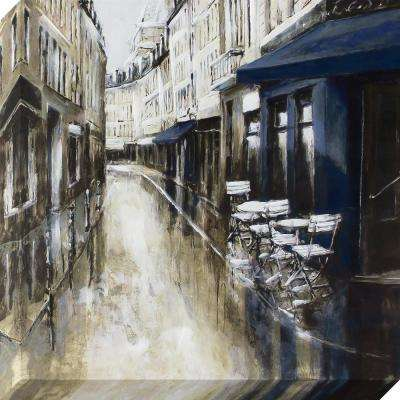 24 in. x 24 in. The Rue Street Scene Stretched Painted Canvas Wall Art