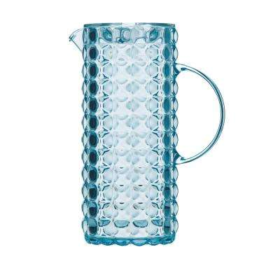 Tiffany Sea Blue Pitcher with Lid