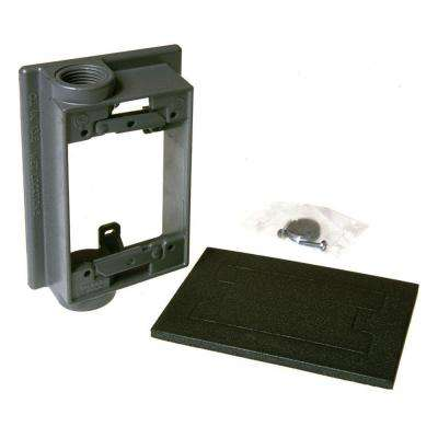 1 Gang Weatherproof Swing Arm Extension Adapter with Two 3/4 in. Outlets